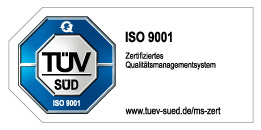 ISO 9001 Zertifiziertes Qualitätsmanagementsystem